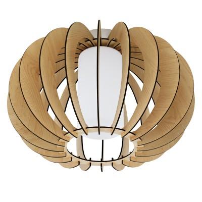 Eglo STELLATO 1 95597 Настенно-потолочный светильникОдиночные<br>Потолочный светильник STELLATO 1, 1X60W (E27), ?400, H275, сталь, никель матовый /дерево, стекло, клен, белый применяется преимущественно в домашнем освещении с использованием стандартных выключателей и переключателей для сетей 220V.<br><br>S освещ. до, м2: 3<br>Тип цоколя: E27<br>Количество ламп: 1<br>MAX мощность ламп, Вт: 60<br>Диаметр, мм мм: 400<br>Высота, мм: 275<br>Цвет арматуры: серебристый никель