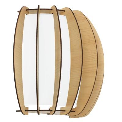 Eglo STELLATO 1 95602 Настенно-потолочный светильникВосточный стиль<br>Бра STELLATO 1, 1X60W (E27), L285, H250, сталь, белый/дерево, стекло, клен применяется преимущественно в домашнем освещении с использованием стандартных выключателей и переключателей для сетей 220V.<br><br>Тип цоколя: E27<br>Цвет арматуры: белый<br>Количество ламп: 1<br>Глубина, мм: 140<br>Длина, мм: 285<br>Высота, мм: 250<br>MAX мощность ламп, Вт: 60
