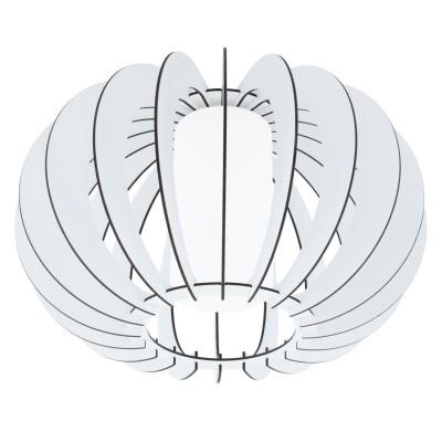 Eglo STELLATO 2 95605 Настенно-потолочный светильникПотолочные<br>Потолочный светильник STELLATO 2, 1X60W (E27), ?400, H275, сталь, белый /дерево, стекло, белый применяется преимущественно в домашнем освещении с использованием стандартных выключателей и переключателей для сетей 220V.<br><br>Установка на натяжной потолок: Ограничено<br>S освещ. до, м2: 3<br>Крепление: Планка<br>Тип цоколя: E27<br>Цвет арматуры: белый<br>Количество ламп: 1<br>Диаметр, мм мм: 400<br>Высота, мм: 275<br>MAX мощность ламп, Вт: 60