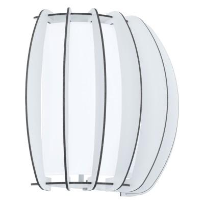 Eglo STELLATO 2 95609 Настенно-потолочный светильникСовременные<br>Бра STELLATO 2, 1X60W (E27), L285, H250, сталь, белый/дерево, стекло, белый применяется преимущественно в домашнем освещении с использованием стандартных выключателей и переключателей для сетей 220V.<br><br>Тип цоколя: E27<br>Цвет арматуры: белый<br>Количество ламп: 1<br>Глубина, мм: 140<br>Длина, мм: 285<br>Высота, мм: 250<br>MAX мощность ламп, Вт: 60