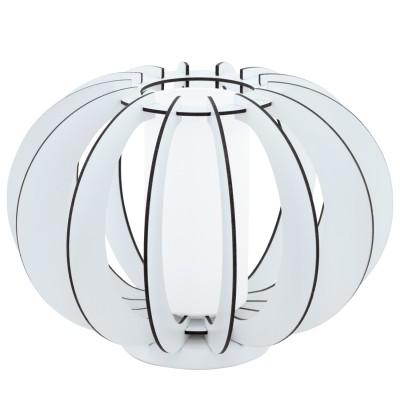 Eglo STELLATO 2 95611 Настольная лампаСовременные<br>Наст. лампа STELLATO 2, 1х60W(E27), L285, H250, сталь, белый/дерево, стекло, белый применяется преимущественно в домашнем освещении с использованием стандартных выключателей и переключателей для сетей 220V.<br><br>Тип цоколя: E27<br>Количество ламп: 1<br>MAX мощность ламп, Вт: 60<br>Диаметр, мм мм: 300<br>Высота, мм: 215<br>Цвет арматуры: белый