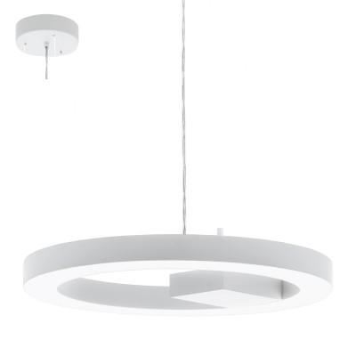 Eglo ALVENDRE-S 95614 Подвесной светильникПодвесные<br>Светодиодный подвес  ALVENDRE-S Умное освещ., 28W(LED), ?480, пластик, белый/пластик, белый применяется преимущественно в домашнем освещении с использованием стандартных выключателей и переключателей для сетей 220V.<br><br>Установка на натяжной потолок: Да<br>S освещ. до, м2: 11<br>Цветовая t, К: 2765<br>Тип лампы: LED - светодиодная<br>Тип цоколя: LED<br>Количество ламп: 1<br>MAX мощность ламп, Вт: 28<br>Диаметр, мм мм: 480<br>Высота, мм: 1100<br>Цвет арматуры: белый