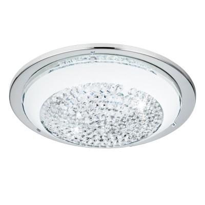 Eglo ACOLLA 95639 Настенно-потолочный светильникКруглые<br>Светодиодный настенно-потолочный светильник ACOLLA, 8,2W (LED), сталь/хром/стекло с кристал/бел применяется преимущественно в домашнем освещении с использованием стандартных выключателей и переключателей для сетей 220V.<br><br>S освещ. до, м2: 3<br>Цветовая t, К: 3000<br>Тип лампы: LED - светодиодная<br>Тип цоколя: LED<br>Количество ламп: 1<br>MAX мощность ламп, Вт: 8<br>Диаметр, мм мм: 290<br>Глубина, мм: 85<br>Цвет арматуры: серебристый