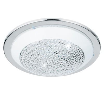 Eglo ACOLLA 95641 Настенно-потолочный светильникКруглые<br>Светодиодный настенно-потолочный светильник ACOLLA, 16W(LED), ?370, сталь, хром/стекло с крист., белый, прозрачный применяется преимущественно в домашнем освещении с использованием стандартных выключателей и переключателей для сетей 220V.<br><br>S освещ. до, м2: 6<br>Цветовая t, К: 3000<br>Тип лампы: LED - светодиодная<br>Тип цоколя: LED<br>Цвет арматуры: серебристый<br>Количество ламп: 1<br>Диаметр, мм мм: 370<br>Глубина, мм: 90<br>MAX мощность ламп, Вт: 16