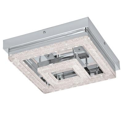 Eglo FRADELO 95659 Настенно-потолочный светильник LEDКвадратные<br>Светодиодный потол. светильник FRADELO, 12W(LED), 240х240, сталь, хром/пластик с кристал., хром, прозрач. применяется преимущественно в домашнем освещении с использованием стандартных выключателей и переключателей для сетей 220V.<br><br>S освещ. до, м2: 5<br>Цветовая t, К: 3000<br>Тип лампы: LED - светодиодная<br>Тип цоколя: LED<br>Цвет арматуры: серебристый<br>Количество ламп: 1<br>Ширина, мм: 240<br>Длина, мм: 240<br>Высота, мм: 60<br>MAX мощность ламп, Вт: 12