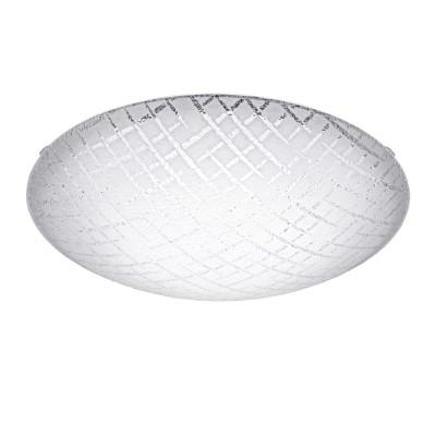 Eglo RICONTO 1 95675 Настенно-потолочный светильникКруглые<br>Светодиодный настенно-потолочный светильник RICONTO 1, 11W(LED), ?250, сталь, белый/рифл. стекло, белый, прозрачный применяется преимущественно в домашнем освещении с использованием стандартных выключателей и переключателей для сетей 220V.<br><br>S освещ. до, м2: 3<br>Цветовая t, К: 3000<br>Тип лампы: LED - светодиодная<br>Тип цоколя: LED<br>Цвет арматуры: белый<br>Количество ламп: 1<br>Диаметр, мм мм: 250<br>Глубина, мм: 80<br>MAX мощность ламп, Вт: 8