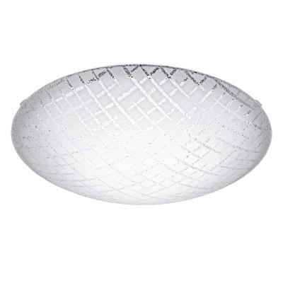 Eglo RICONTO 1 95676 Настенно-потолочный светильникКруглые<br>Светодиодный настенно-потолочный светильник RICONTO 1, 16W(LED), ?395, сталь, белый/рифл. стекло, белый, прозрачный применяется преимущественно в домашнем освещении с использованием стандартных выключателей и переключателей для сетей 220V.<br><br>S освещ. до, м2: 10<br>Цветовая t, К: 3000<br>Тип лампы: LED - светодиодная<br>Тип цоколя: LED<br>Цвет арматуры: белый<br>Количество ламп: 1<br>Диаметр, мм мм: 395<br>Глубина, мм: 100<br>MAX мощность ламп, Вт: 24