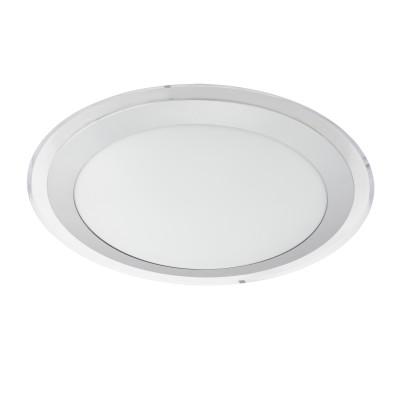 Настенно-потолочный светильник Eglo 95677 COMPETA 1круглые светильники<br>Светодиодный настенно-потолочный светильник COMPETA 1, 22W(LED), ?335, сталь, белый/пластик, белый, серебр., прозрач. применяется преимущественно в домашнем освещении с использованием стандартных выключателей и переключателей для сетей 220V.