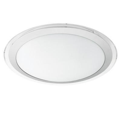 Eglo COMPETA 1 95678 Настенно-потолочный светильникКруглые<br>Светодиодный настенно-потолочный светильник COMPETA 1, 24W(LED), ?435, сталь, белый/пластик, белый, серебр., прозрач. применяется преимущественно в домашнем освещении с использованием стандартных выключателей и переключателей для сетей 220V.<br><br>S освещ. до, м2: 10<br>Цветовая t, К: 3000<br>Тип лампы: LED - светодиодная<br>Тип цоколя: LED<br>Цвет арматуры: белый<br>Количество ламп: 1<br>Диаметр, мм мм: 435<br>Высота, мм: 40<br>MAX мощность ламп, Вт: 24