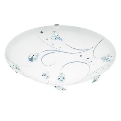 Eglo SORRENTA 1 95689 Настенно-потолочный светильникКруглые<br>Светодиодный настенно-потолочный светильник SORRENTA 1, 16W(LED), ?315, сталь, белый/стекло, хрусталь, белый, прозрач. применяется преимущественно в домашнем освещении с использованием стандартных выключателей и переключателей для сетей 220V.<br><br>S освещ. до, м2: 6<br>Цветовая t, К: 4000<br>Тип лампы: LED - светодиодная<br>Тип цоколя: LED<br>Цвет арматуры: белый<br>Количество ламп: 1<br>Диаметр, мм мм: 315<br>Глубина, мм: 95<br>MAX мощность ламп, Вт: 16