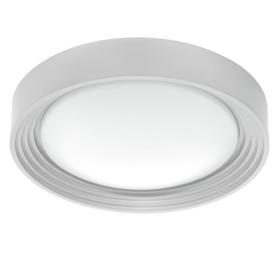 Светильник для ванной комнаты Eglo 95692 ONTANEDA 1бра для ванной<br>Светодиодный настенно-потолочный светильник ONTANEDA 1, 11W(LED), ?325, IP44, пластик, серебряный/пластик, белый применяется преимущественно в домашнем освещении с использованием стандартных выключателей и переключателей для сетей 220V.