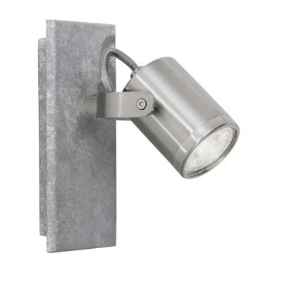 Eglo PRACETA 95741 Светодиодный спотОдиночные<br>Светодиодный спот PRACETA, 1x3,3W(GU10), L80, H165, сталь, серый, никель матовый, под бетон применяется преимущественно в домашнем освещении с использованием стандартных выключателей и переключателей для сетей 220V.<br><br>S освещ. до, м2: 2<br>Тип лампы: LED - светодиодная<br>Тип цоколя: GU10<br>Цвет арматуры: серый, никель матовый<br>Количество ламп: 1<br>Длина, мм: 80<br>Высота, мм: 165<br>MAX мощность ламп, Вт: 3