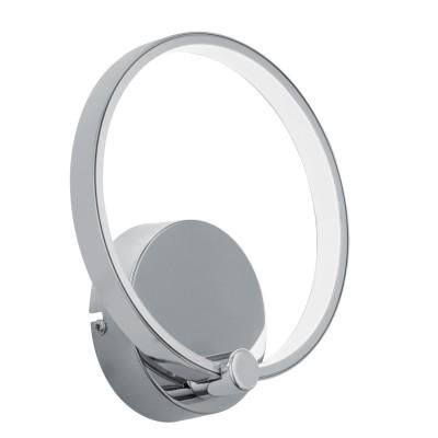 Eglo LASANA 95768 Настенно-потолочный светильникХай-тек<br>Светодиодное бра LASANA, 5W(LED), L180, H195, сталь, алюминий, хром/пластик, белый применяется преимущественно в домашнем освещении с использованием стандартных выключателей и переключателей для сетей 220V.<br><br>Цветовая t, К: 3000<br>Тип лампы: LED - светодиодная<br>Тип цоколя: LED<br>Количество ламп: 1<br>MAX мощность ламп, Вт: 5<br>Глубина, мм: 60<br>Длина, мм: 180<br>Высота, мм: 195<br>Цвет арматуры: серебристый хром