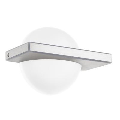 Eglo BOLDO 95771 Настенно-потолочный светильникДекоративные<br>Светодиодное бра BOLDO, 11W(LED), L200, H140, алюминий, сталь, алюм. чесаный/пластик, белый применяется преимущественно в домашнем освещении с использованием стандартных выключателей и переключателей для сетей 220V.<br><br>S освещ. до, м2: 3<br>Цветовая t, К: 3000<br>Тип лампы: LED - светодиодная<br>Тип цоколя: LED<br>Цвет арматуры: серебристый<br>Количество ламп: 1<br>Глубина, мм: 90<br>Длина, мм: 200<br>Высота, мм: 140<br>MAX мощность ламп, Вт: 8