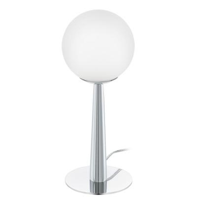 Eglo BUCCINO 1 95778 Настольная лампаХай тек<br>Светодиодный наст. лампа BUCCINO 1, 1х2,5W(G9), ?125, H310, сталь, хром/опаловое стекло, белый применяется преимущественно в домашнем освещении с использованием стандартных выключателей и переключателей для сетей 220V.<br><br>Тип лампы: LED - светодиодная<br>Тип цоколя: G9<br>Количество ламп: 1<br>MAX мощность ламп, Вт: 3<br>Диаметр, мм мм: 125<br>Высота, мм: 310<br>Цвет арматуры: серебристый хром