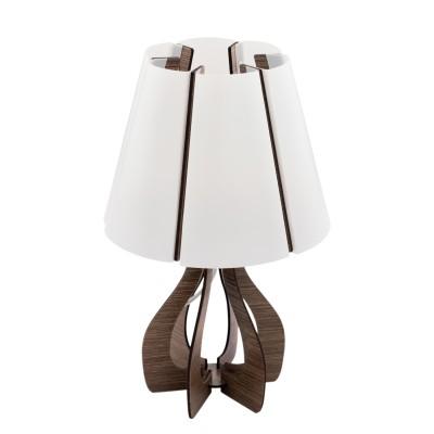 Eglo COSSANO 95795 Настольная лампаСовременные<br>Наст. лампа COSSANO, 1х40W(E14), ?190, H310, сталь, никель мат./дерево, темно-коричневый применяется преимущественно в домашнем освещении с использованием стандартных выключателей и переключателей для сетей 220V.<br><br>Тип цоколя: E14<br>Цвет арматуры: никель матовый<br>Количество ламп: 1<br>Диаметр, мм мм: 190<br>Высота, мм: 310<br>MAX мощность ламп, Вт: 40