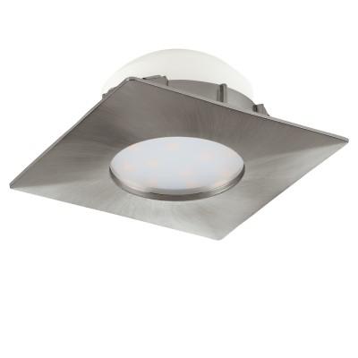 Eglo PINEDA 95799 Встраиваемый светильникСветодиодные квадратные светильники<br>Светодиодный встраиваемый светильник PINEDA, 1х6W(LED), 78х78, пластик, никель матовый применяется преимущественно в домашнем освещении с использованием стандартных выключателей и переключателей для сетей 220V.<br><br>Цветовая t, К: 3000<br>Тип лампы: LED - светодиодная<br>Тип цоколя: LED<br>Цвет арматуры: серебристый<br>Количество ламп: 1<br>Ширина, мм: 78<br>Длина, мм: 78<br>MAX мощность ламп, Вт: 6
