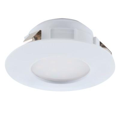 Eglo PINEDA 95804 Встраиваемый светильникКруглые LED<br>Светодиодный встраиваемый светильник PINEDA, 1х6W(LED), ?78, пластик, белый применяется преимущественно в домашнем освещении с использованием стандартных выключателей и переключателей для сетей 220V.<br><br>Цветовая t, К: 3000<br>Тип лампы: LED - светодиодная<br>Тип цоколя: LED<br>Цвет арматуры: белый<br>Количество ламп: 1<br>Диаметр, мм мм: 78<br>MAX мощность ламп, Вт: 6
