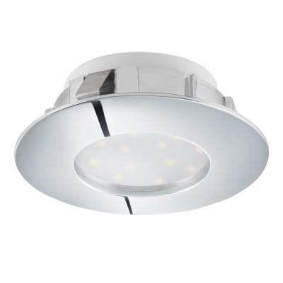 Eglo PINEDA 95805 Встраиваемый светильникКруглые LED<br>Светодиодный встраиваемый светильник PINEDA, 1х6W(LED), ?78, пластик, хром применяется преимущественно в домашнем освещении с использованием стандартных выключателей и переключателей для сетей 220V.<br><br>Цветовая t, К: 3000<br>Тип лампы: LED - светодиодная<br>Тип цоколя: LED<br>Количество ламп: 1<br>MAX мощность ламп, Вт: 6<br>Диаметр, мм мм: 78<br>Цвет арматуры: серебристый хром