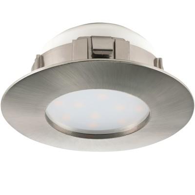 Eglo PINEDA 95806 Встраиваемый светильникКруглые LED<br>Светодиодный встраиваемый светильник PINEDA, 1х6W(LED), ?78, пластик, никель матовый применяется преимущественно в домашнем освещении с использованием стандартных выключателей и переключателей для сетей 220V.<br><br>Цветовая t, К: 3000<br>Тип лампы: LED - светодиодная<br>Тип цоколя: LED<br>Количество ламп: 1<br>MAX мощность ламп, Вт: 6<br>Диаметр, мм мм: 78<br>Цвет арматуры: серебристый