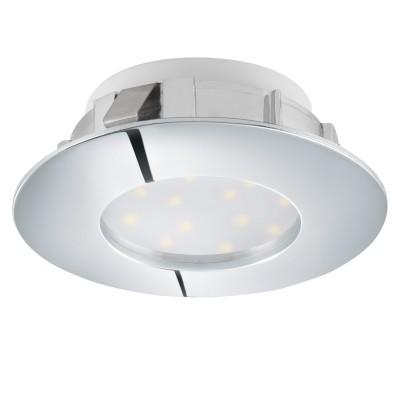 Eglo PINEDA 95818 Встраиваемый светильникКруглые LED<br>Светодиодный встраиваемый светильник PINEDA, 1х6W(LED), ?78, IP44, пластик, хром применяется преимущественно в домашнем освещении с использованием стандартных выключателей и переключателей для сетей 220V.<br><br>Цветовая t, К: 3000<br>Тип лампы: LED - светодиодная<br>Тип цоколя: LED<br>Количество ламп: 1<br>MAX мощность ламп, Вт: 6<br>Диаметр, мм мм: 78<br>Цвет арматуры: серебристый хром