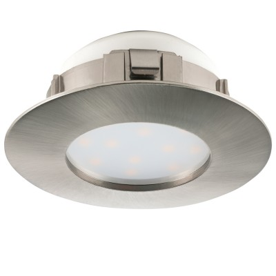 Eglo PINEDA 95819 Встраиваемый светильникКруглые LED<br>Светодиодный встраиваемый светильник PINEDA, 1х6W(LED), ?78, IP44, пластик, никель матовый применяется преимущественно в домашнем освещении с использованием стандартных выключателей и переключателей для сетей 220V.<br><br>Цветовая t, К: 3000<br>Тип лампы: LED - светодиодная<br>Тип цоколя: LED<br>Количество ламп: 1<br>MAX мощность ламп, Вт: 6<br>Диаметр, мм мм: 78<br>Цвет арматуры: серебристый