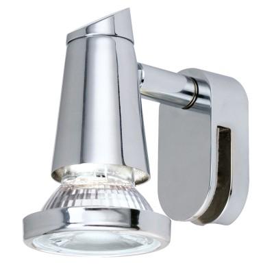 Eglo STICKER LED 95832 Светильник для ванной комнатыДля ванной<br>Подсветка для зеркал STICKER LED, 1х40W(E14), H115, cталь, хром, опаловое стекло, белый применяется преимущественно в домашнем освещении с использованием стандартных выключателей и переключателей для сетей 220V.<br><br>Тип лампы: LED - светодиодная<br>Тип цоколя: GU10<br>Количество ламп: 1<br>MAX мощность ламп, Вт: 4<br>Глубина, мм: 75<br>Длина, мм: 55<br>Высота, мм: 95<br>Цвет арматуры: серебристый хром
