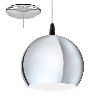 Eglo PETTO LED 95835 Подвесной светильникОдиночные<br>Светодиодный подвес PETTO LED, 1X3,3W (GU10), ?150, сталь, хром применяется преимущественно в домашнем освещении с использованием стандартных выключателей и переключателей для сетей 220V.<br><br>S освещ. до, м2: 1<br>Тип лампы: LED - светодиодная<br>Тип цоколя: GU10<br>Цвет арматуры: серебристый хром<br>Количество ламп: 1<br>Диаметр, мм мм: 150<br>Высота, мм: 1100<br>MAX мощность ламп, Вт: 4