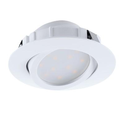 Встраиваемый светильник Eglo 95847 PINEDAСветодиодные круглые встраиваемые светильники<br>Светодиодный встраиваемый светильник PINEDA регулир., 1х6W(LED), ?84, пластик, белый применяется преимущественно в домашнем освещении с использованием стандартных выключателей и переключателей для сетей 220V.