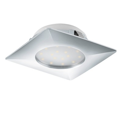 Eglo PINEDA 95862 Встраиваемый светильникКвадратные LED<br>Светодиодный встраиваемый светильник PINEDA, 1х12W(LED), 102х102, пластик, хром применяется преимущественно в домашнем освещении с использованием стандартных выключателей и переключателей для сетей 220V.<br><br>Цветовая t, К: 3000<br>Тип лампы: LED - светодиодная<br>Тип цоколя: LED<br>Количество ламп: 1<br>Ширина, мм: 102<br>MAX мощность ламп, Вт: 12<br>Длина, мм: 102<br>Цвет арматуры: серебристый хром