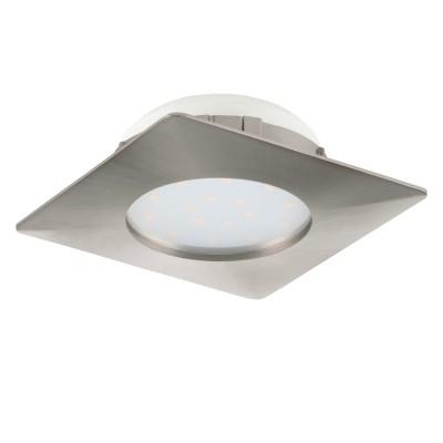 Eglo PINEDA 95863 Встраиваемый светильникКвадратные LED<br>Светодиодный встраиваемый светильник PINEDA, 1х12W(LED), 102х102, пластик, никель матовый применяется преимущественно в домашнем освещении с использованием стандартных выключателей и переключателей для сетей 220V.<br><br>Цветовая t, К: 3000<br>Тип лампы: LED - светодиодная<br>Тип цоколя: LED<br>Количество ламп: 1<br>Ширина, мм: 102<br>MAX мощность ламп, Вт: 12<br>Длина, мм: 102<br>Цвет арматуры: серебристый