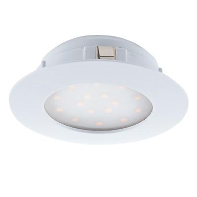 Eglo PINEDA 95867 Встраиваемый светильникКруглые LED<br>Светодиодный встраиваемый светильник PINEDA, 1х12W(LED), ?102, пластик, белый применяется преимущественно в домашнем освещении с использованием стандартных выключателей и переключателей для сетей 220V.<br><br>Цветовая t, К: 3000<br>Тип лампы: LED - светодиодная<br>Тип цоколя: LED<br>Цвет арматуры: белый<br>Количество ламп: 1<br>Диаметр, мм мм: 102<br>MAX мощность ламп, Вт: 12