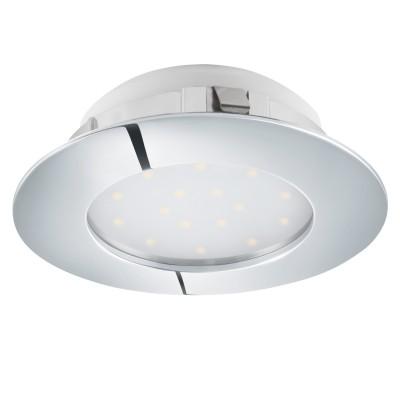 Eglo PINEDA 95868 Встраиваемый светильникКруглые LED<br>Светодиодный встраиваемый светильник PINEDA, 1х12W(LED), ?102, пластик, хром применяется преимущественно в домашнем освещении с использованием стандартных выключателей и переключателей для сетей 220V.<br><br>Цветовая t, К: 3000<br>Тип лампы: LED - светодиодная<br>Тип цоколя: LED<br>Количество ламп: 1<br>MAX мощность ламп, Вт: 12<br>Диаметр, мм мм: 102<br>Цвет арматуры: серебристый хром