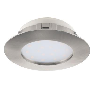 Eglo PINEDA 95869 Встраиваемый светильникСветодиодные круглые светильники<br>Светодиодный встраиваемый светильник PINEDA, 1х12W(LED), ?102, пластик, никель матовый применяется преимущественно в домашнем освещении с использованием стандартных выключателей и переключателей для сетей 220V.<br><br>Цветовая t, К: 3000<br>Тип лампы: LED - светодиодная<br>Тип цоколя: LED<br>Цвет арматуры: серебристый<br>Количество ламп: 1<br>Диаметр, мм мм: 102<br>MAX мощность ламп, Вт: 12