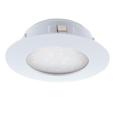 Eglo PINEDA 95874 Встраиваемый светильникКруглые LED<br>Светодиодный встраиваемый светильник PINEDA диммир., 1х12W(LED), ?102, пластик, белый применяется преимущественно в домашнем освещении с использованием стандартных выключателей и переключателей для сетей 220V.<br><br>Цветовая t, К: 3000<br>Тип лампы: LED - светодиодная<br>Тип цоколя: LED<br>Количество ламп: 1<br>MAX мощность ламп, Вт: 12<br>Диаметр, мм мм: 102<br>Цвет арматуры: белый