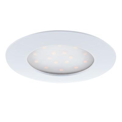Eglo PINEDA 95887 Встраиваемый светильникКруглые LED<br>Светодиодный встраиваемый светильник PINEDA, 1х12W(LED), ?102, IP44/IP20, пластик, белый применяется преимущественно в домашнем освещении с использованием стандартных выключателей и переключателей для сетей 220V.<br><br>Цветовая t, К: 3000<br>Тип лампы: LED - светодиодная<br>Тип цоколя: LED<br>Количество ламп: 1<br>MAX мощность ламп, Вт: 12<br>Диаметр, мм мм: 102<br>Цвет арматуры: белый