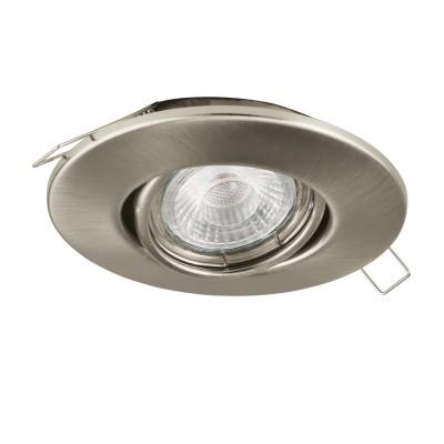 Eglo PENETO 1 95898 Встраиваемый светильникКруглые<br>Светодиодный встраиваемый светильник PENETO 1 регулир., 1х3W(GU10), ?108, сталь, никель матовый применяется преимущественно в домашнем освещении с использованием стандартных выключателей и переключателей для сетей 220V.<br><br>Тип лампы: LED - светодиодная<br>Тип цоколя: GU10<br>Цвет арматуры: никель матовый<br>Количество ламп: 1<br>Диаметр, мм мм: 108<br>MAX мощность ламп, Вт: 3
