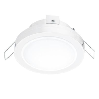 Eglo PINEDA 1 95917 Встраиваемый светильникКруглые LED<br>Светодиодный встраиваемый светильник PINEDA 1, 1х6W(LED), ?82, IP44, сталь, пластик, белый/пластик, белый применяется преимущественно в домашнем освещении с использованием стандартных выключателей и переключателей для сетей 220V.<br><br>Цветовая t, К: 3000<br>Тип лампы: LED - светодиодная<br>Тип цоколя: LED<br>Количество ламп: 1<br>MAX мощность ламп, Вт: 6<br>Диаметр, мм мм: 82<br>Цвет арматуры: белый