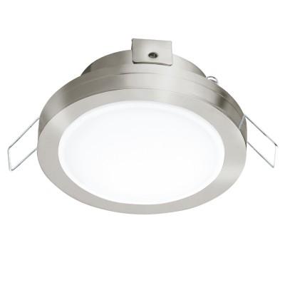 Eglo PINEDA 1 95918 Встраиваемый светильникКруглые LED<br>Светодиодный встраиваемый светильник PINEDA 1, 1х6W(LED), ?82, IP44, сталь, пластик, никель мат./пластик, белый применяется преимущественно в домашнем освещении с использованием стандартных выключателей и переключателей для сетей 220V.<br><br>Цветовая t, К: 3000<br>Тип лампы: LED - светодиодная<br>Тип цоколя: LED<br>Количество ламп: 1<br>MAX мощность ламп, Вт: 6<br>Диаметр, мм мм: 82<br>Цвет арматуры: серебристый