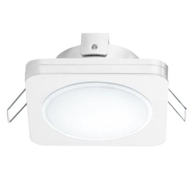 Eglo PINEDA 1 95919 Встраиваемый светильникКвадратные LED<br>Светодиодный встраиваемый светильник PINEDA 1, 1х6W(LED), 82х82, IP44, сталь, пластик, белый/пластик, белый применяется преимущественно в домашнем освещении с использованием стандартных выключателей и переключателей для сетей 220V.<br><br>Цветовая t, К: 3000<br>Тип лампы: LED - светодиодная<br>Тип цоколя: LED<br>Количество ламп: 1<br>Ширина, мм: 82<br>MAX мощность ламп, Вт: 6<br>Длина, мм: 82<br>Цвет арматуры: белый