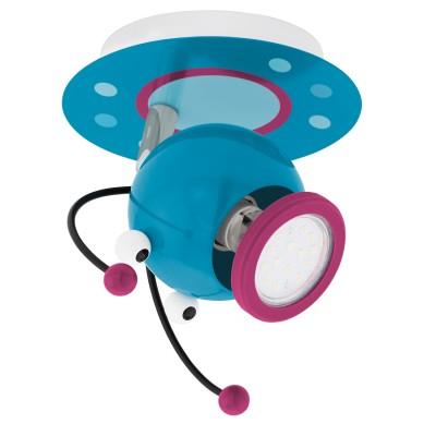 Eglo LAIA 1 95941 Светильник для детской комнатыДетские споты<br>Светодиодный спот в детскую комнату LAIA 1, 1х3W(GU10), L110, H140, сталь, разноцветный применяется преимущественно в домашнем освещении с использованием стандартных выключателей и переключателей для сетей 220V.<br><br>S освещ. до, м2: 2<br>Тип лампы: LED - светодиодная<br>Тип цоколя: GU10<br>Цвет арматуры: разноцветный<br>Количество ламп: 1<br>Длина, мм: 110<br>Высота, мм: 140<br>MAX мощность ламп, Вт: 3