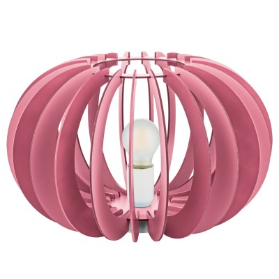 Eglo FABELLA 95952 Светильник для детской комнатыПотолочные<br>Потол. светильник в детскую комнату FABELLA, 1х60W(E27), ?410, H255, сталь, розовый/дерево, розовый применяется преимущественно в домашнем освещении с использованием стандартных выключателей и переключателей для сетей 220V.<br><br>Установка на натяжной потолок: Ограничено<br>S освещ. до, м2: 1<br>Тип цоколя: E27<br>Количество ламп: 1<br>MAX мощность ламп, Вт: 60<br>Диаметр, мм мм: 410<br>Высота, мм: 255<br>Цвет арматуры: розовый