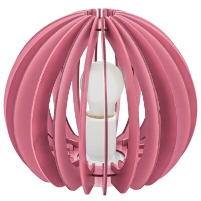 Eglo FABELLA 95954 Светильник для детской комнатыДля детской<br>Настол. лампа в детскую комнату FABELLA, 1х42W(E27), ?250, H225, сталь, розовый/дерево, розовый применяется преимущественно в домашнем освещении с использованием стандартных выключателей и переключателей для сетей 220V.<br><br>Тип цоколя: E27<br>Количество ламп: 1<br>MAX мощность ламп, Вт: 42<br>Диаметр, мм мм: 250<br>Высота, мм: 225<br>Цвет арматуры: розовый