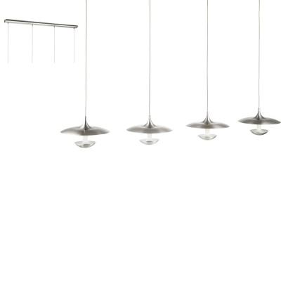 Eglo TORONJA 95957 Подвесной светильникДлинные 4+<br>Светодиодный подвес TORONJA, 4х5,3W(LED), L1010, H1500, сталь, никель матовый, глянцевый белый применяется преимущественно в домашнем освещении с использованием стандартных выключателей и переключателей для сетей 220V.<br><br>S освещ. до, м2: 8<br>Цветовая t, К: 3000<br>Тип лампы: LED - светодиодная<br>Тип цоколя: LED<br>Количество ламп: 4<br>Ширина, мм: 220<br>MAX мощность ламп, Вт: 5<br>Длина, мм: 1010<br>Высота, мм: 1500<br>Цвет арматуры: серебристый никель