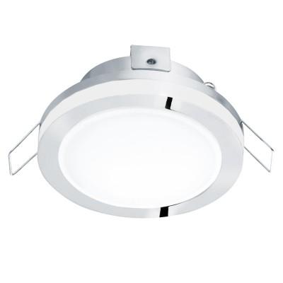 Eglo PINEDA 1 95962 Встраиваемый светильникКруглые LED<br>Светодиодный встраиваемый светильник PINEDA 1, 1х6W(LED), ?82, IP44, сталь, пластик, белый/пластик, белый применяется преимущественно в домашнем освещении с использованием стандартных выключателей и переключателей для сетей 220V.<br><br>Цветовая t, К: 3000<br>Тип лампы: LED - светодиодная<br>Тип цоколя: LED<br>Количество ламп: 1<br>MAX мощность ламп, Вт: 6<br>Диаметр, мм мм: 82<br>Цвет арматуры: серебристый хром