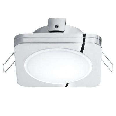 Eglo PINEDA 1 95963 Встраиваемый светильникКвадратные LED<br>Светодиодный встраиваемый светильник PINEDA 1, 1х6W(LED), 82х82, IP44, сталь, пластик, хром/пластик, белый применяется преимущественно в домашнем освещении с использованием стандартных выключателей и переключателей для сетей 220V.<br><br>Цветовая t, К: 3000<br>Тип лампы: LED - светодиодная<br>Тип цоколя: LED<br>Количество ламп: 1<br>Ширина, мм: 82<br>MAX мощность ламп, Вт: 6<br>Длина, мм: 82<br>Цвет арматуры: серебристый хром
