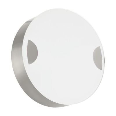 Eglo CUPELLA 95965 Настенно-потолочный светильникКруглые<br>Светодиодный настенно-потолочный светильник CUPELLA, 11W(LED), ?150, сталь, никель мат./стекло, белый применяется преимущественно в домашнем освещении с использованием стандартных выключателей и переключателей для сетей 220V.<br><br>S освещ. до, м2: 4<br>Цветовая t, К: 3000<br>Тип лампы: LED - светодиодная<br>Тип цоколя: LED<br>Количество ламп: 1<br>MAX мощность ламп, Вт: 11<br>Диаметр, мм мм: 150<br>Глубина, мм: 45<br>Цвет арматуры: никель матовый