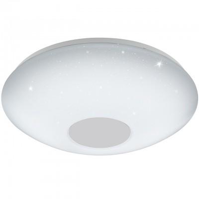 Eglo VOLTAGO 2 95971 Настенно-потолочный светильник 14Wкруглые светильники<br>Светодиодный настенно-потолочный светильник VOLTAGO 2 с пультом ДУ, 14W(LED), ?300, сталь, белый/пластик с эф. хрусталя, белый применяется преимущественно в домашнем освещении с использованием стандартных выключателей и переключателей для сетей 220V.<br><br>Установка на натяжной потолок: Да<br>S освещ. до, м2: 7<br>Крепление: планка<br>Цветовая t, К: 2765<br>Тип лампы: LED - светодиодная<br>Тип цоколя: LED<br>Цвет арматуры: белый<br>Количество ламп: 1<br>Диаметр, мм мм: 300<br>Высота полная, мм: 150<br>Поверхность арматуры: матовая с эффектом звездного неба<br>Оттенок (цвет): белый<br>MAX мощность ламп, Вт: 14