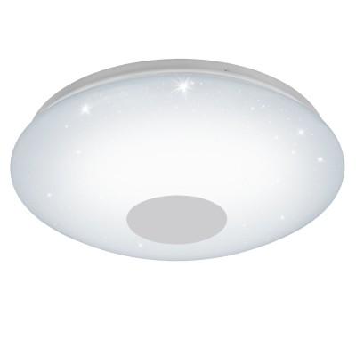 Eglo VOLTAGO 2 95972 Настенно-потолочный светильникКруглые<br>Светодиодный настенно-потолочный светильник VOLTAGO 2 с пультом ДУ, 20W(LED), ?375, сталь, белый/пластик с эф. хрусталя, белый применяется преимущественно в домашнем освещении с использованием стандартных выключателей и переключателей для сетей 220V.<br><br>S освещ. до, м2: 8<br>Цветовая t, К: 2765<br>Тип лампы: LED - светодиодная<br>Тип цоколя: LED<br>Цвет арматуры: белый<br>Количество ламп: 1<br>Диаметр, мм мм: 375<br>MAX мощность ламп, Вт: 20