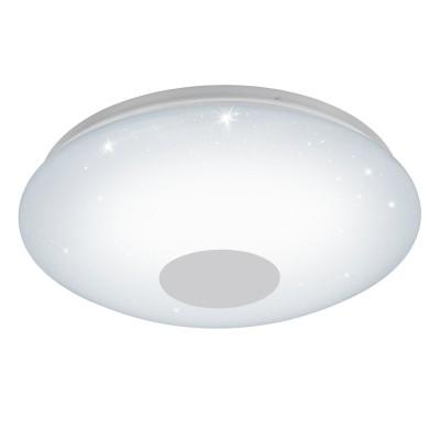 Eglo VOLTAGO 2 95973 Настенно-потолочный светильникКруглые<br>Светодиодный настенно-потолочный светильник VOLTAGO 2 с пультом ДУ, 30W(LED), ?600, сталь, белый/пластик с эф. хрусталя, белый применяется преимущественно в домашнем освещении с использованием стандартных выключателей и переключателей для сетей 220V.<br><br>S освещ. до, м2: 12<br>Цветовая t, К: 2765<br>Тип лампы: LED - светодиодная<br>Тип цоколя: LED<br>Цвет арматуры: белый<br>Количество ламп: 1<br>Диаметр, мм мм: 600<br>MAX мощность ламп, Вт: 30
